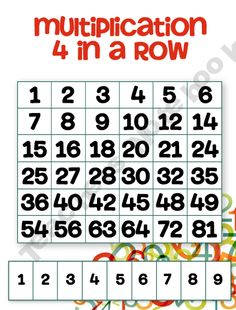 Multiplication 4 in a Row! Fun multiplication game.. kind of like 24.