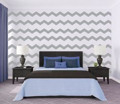 Cute Large Chevron Pattern  Wall Decal Custom Vinyl by danadecals, $60.00