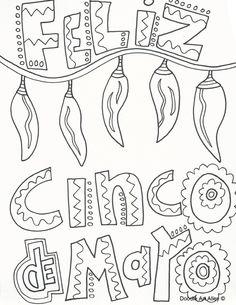 Printable Cinco de Mayo coloring page. Free PDF download at http ...