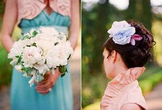 peach/teal plus beautiful wedding photography.