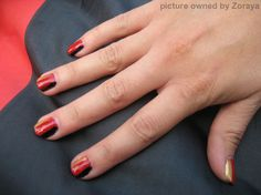 Football World Cup Nails --- Fußball Weltmeisterschaft Nageldesign - Deutsche Flagge
