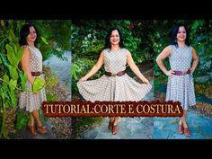 Corte e Costura: Vestido Godê Retrô [ Inspirado em uma linda mulher] - YouTube