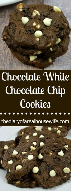 Chocolate white chocolate chip cookies. We all know that a cookie with chocolate in the name TWICE is going to be awesome!