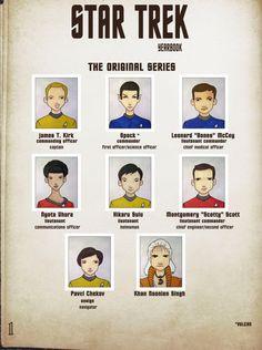 STAR TREK The Original Series TOS yearbook character by BantamBB, $1.50