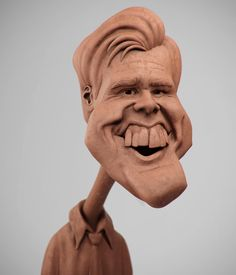 Jim Carrey, Guzz Soares on ArtStation at https://www.artstation.com/artwork/jim-carrey