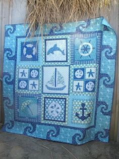 Ohhh, I love this one!!  Some great fabric and patterns here!  Military Quilt No. 4.