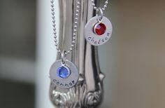 GroopDealz | Personalized Necklace with a Genuine Swarovski Birthstone