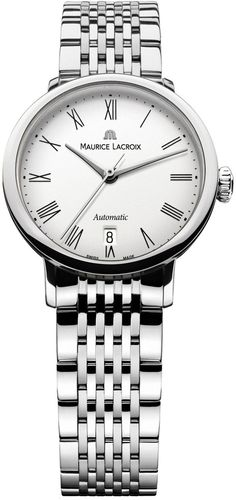 Maurice Lacroix Watch Les Classiques Round Ladies Date Tradition #bezel-fixed #bracelet-strap-steel #brand-maurice-lacroix #case-material-steel #case-width-28mm #date-yes #delivery-timescale-4-7-days #dial-colour-white #gender-ladies #luxury #movement-automatic #official-stockist-for-maurice-lacroix-watches #packaging-maurice-lacroix-watch-packaging #style-dress #subcat-les-classiques #supplier-model-no-lc6063-ss002-110 #warranty-maurice-lacroix-official-2-year-guarantee #water-resistant-30m