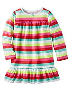 OshKosh Bgosh Little Striped 4 Toddler. -- Details can be found by clicking on the image. (This is an affiliate link) #Nightgowns