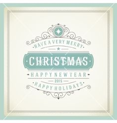 Christmas retro typography and ornament decoration vector - by ProVectors on VectorStock®