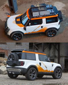 Land Rover's Defender Concept 100 Jeep Cars, Jeep 4x4, Jeep Truck, New Land Rover Defender, New Defender, Lamborghini Aventador Roadster, Land Rover Discovery 2, Land Rover Models, Off Road Camping