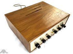 Scott LK-30 tube amplifier and its gorgeous wood cabinet. www.aeaaudio.com #audiophile #tubeamp Diy Amplifier, Audio Room, Wood Cabinets, Audiophile, Restoration, Tube, Vintage, Wood Lockers, Vintage Comics