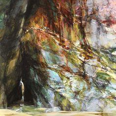 Sarah Adams, Chaple Porth, quartze, oxides, mudstone, oil on linen, 120 x 120 cm