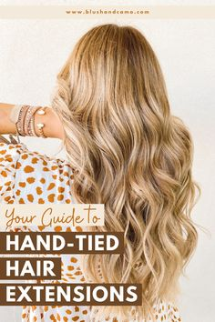 Have you been thinking about getting hand-tied hair extensions? I just got them and I love them! And I'm here to answer all your questions from how to style them to how long will they last! #extensions #hairtransformation #extensioncare