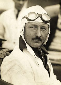 """Captain Sir Henry 'Tim' Birkin, 3rd Bart.  Ex-RFC (Palestine), racing driver 1921-33.  One of the """"Bentley Boys"""", raced at Le Mans 1928-32.  Helped produce the 4½-litre Blower Bentley, in No. 1 set the Brooklands Outer Circuit lap record of 137 mph. Was in several epic races - 1930 Le Mans in which he duelled with the Mercedes SSK; 2nd place in 1930 French GP in his 4½-litre Bentley tourer. Died in '33 from septicaemia/malaria after burning his arm on his Alfa Romeo's exhaust at the Tripoli…"""
