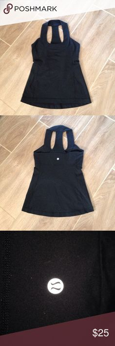 Small black Lululemon work out racer back. Small size 2 Black Lululemon racer back work out tank . lululemon athletica Tops Tank Tops