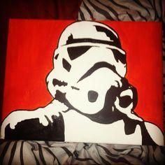 Star wars painting storm trooper Kids Paint Night, Diy Canvas, Canvas Ideas, Star Wars Painting, Painting For Kids, Ink Art, Snoopy, Wall Art, Starwars
