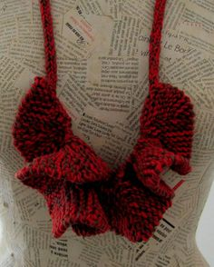 Unique Knitting necklaceCurly necklace-Jewelry by AnnaLela on Etsy
