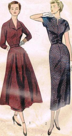 1940s Misses Four Gore Wiggle Dress Simplicity by JFerrariDesigns, $20.00