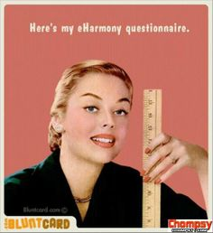 eHarmony questions Funny Picture