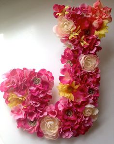 78ee84ba873a84 Floral covered wooden letter  this would be perfect for weddings