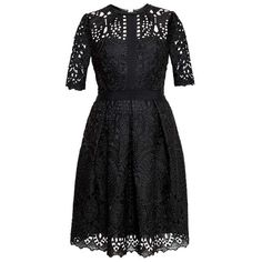 BuyTed Baker Avas Engineered Lace Dress, Black, 0 Online at johnlewis.com