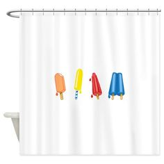 POPSICLES BORDER Shower Curtain