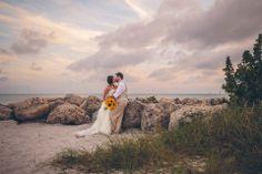 Sunset beach wedding on Key West.   www.daniellateulade.com