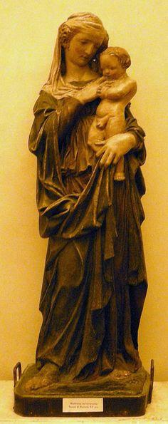 Nanni di Bartolo (attivo tra il 1419 e il 1451) - Madonna col bambino - Cenacolo di Ognissanti, Firenze