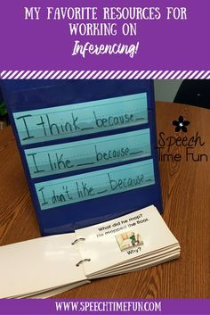 My 5 Favorite Resources for Working on Inferencing in Speech Therapy