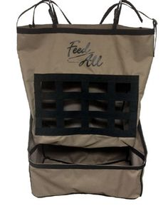 NEW & IMPROVED! Hay and grain feeder made of vinyl lined 600 denier poly with new nylon grid to help prevent ground waste. Straps have quick snap buckles for hanging on fence or trailer. New Item, Backpacks, Tack, Grid, Fashion, Moda, Fashion Styles, Backpack, Fashion Illustrations