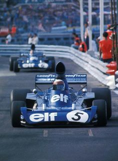 Jackie Stewart (Tyrrell), followed by team mate Francois Cevert at the 1973 Monaco GP