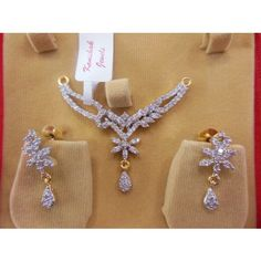 AMERICAN DIAMOND MANGAL SUTRA SET. - Online Shopping for Pendants by DEVESHI