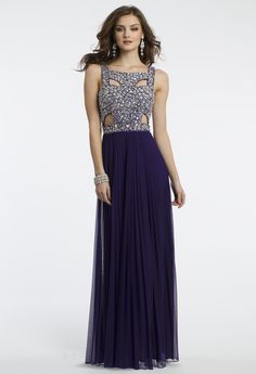 Camille La Vie Cut Out Prom Dress with Beaded Bodice