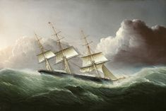 James Edward Buttersworth, The Clipper Ship Flying Cloud Coming Out of a Hurricane.