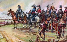 Wellington and his generals at Waterloo