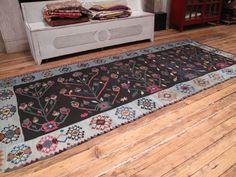 View this item and discover similar for sale at - Lovely European kilim with a folksy, whimsical design and great colors. Rugs On Carpet, Carpets, Moonlight, Searching, Westerns, Whimsical, Folk, Textiles, Inspired