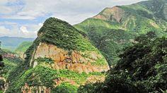 Es un foto de la selva tropical de Las Yungas. Las Yungas corre entre las países de Peru, Argentina, y Bolivia. Si quieres ir a las Andes o entre las selvas del este necesites que usted vaya entre las yungas.