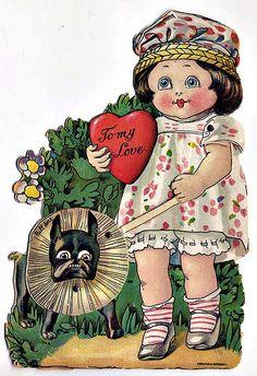Frenchie Vintage Valentine 'To my Love'