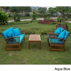 Add a touch of classic elegance to the patio decor with this Phuket Settee Set. The set features a sturdy Acacia Hardwood build, a stylish 'Phuket' slatted design and the choice of two cushion and pillow colors.