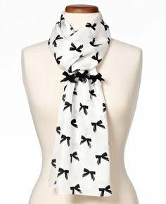 Charming Bow Silk Scarf
