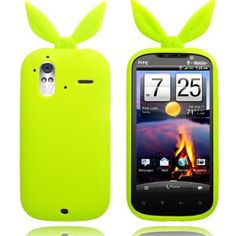 Bunny (Grønn) HTC Amaze 4G Deksel Hot Pink, Bunny, Cover, Amazing, Orange, Silicone Rubber, Pink, Hare, Rabbits