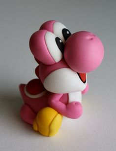 Fondant Super Mario Yoshi Dragon Cake Topper by KimSeeEun on Etsy