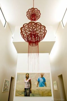 We were commissioned to make a vertical stacked version of our 'flower of life' chandelier for an art collectors home in Johannesburg. Interior Styling, Interior Decorating, Interior Design, Interior Lighting, Custom Lighting, Lighting Design, Lighting Ideas, Blitz Design, Residential Lighting