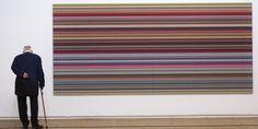 Strip de Gerhard Richter (2011), exposé au Centre Pompidou