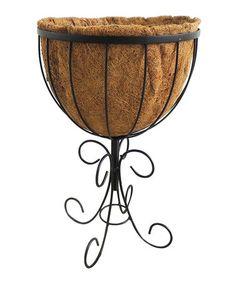 Black Round Solstice Patio Planter #zulily #zulilyfinds