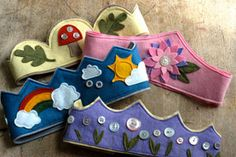 Waldorf Birthday Crown Sewing Pattern by LusaMama on Etsy