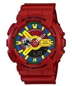 gshock-crazy-colors-watches-2 Casio G Shock, G Shock Watches, Sport Watches, Stylish Watches, Cool Watches, Men's Watches, G Shock Red, Best Watches For Men, Knight