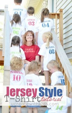 So the idea for these Jersey Style T-Shirts came as I was thinking about how to create teams for our Kids Olympics Party. I finally decided against teams, but wanted to differentiate between families {like countries at the Olympics}. The idea was born to just make t-shirts with each child's name. In order to …