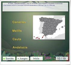 """Comunidades y Ciudades Autónomas"" Socialism, Geography, Constitution Day, Science Area, Interactive Activities, Teaching Resources, Social Science, December"